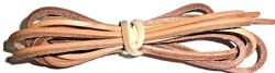 BRITISH QUALITY TAN LEATHER Shoe and Boot Laces different lengths available